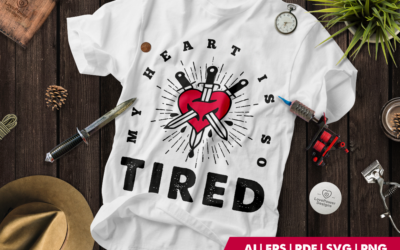 Tattoo SVG | Tattoo T-shirt | Heart with Knives | Halloween
