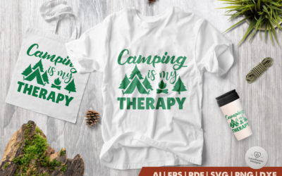 Camping SVG | Camping Therapy SVG | Camp SVG | Therapy SVG