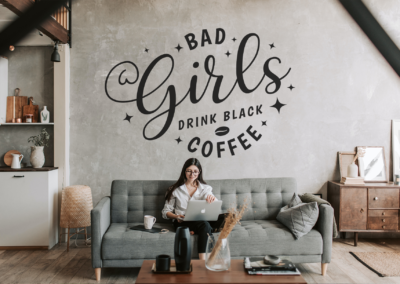 Coffee SVG | Bad Girls Drink Black Coffee SVG | Coffee Quote