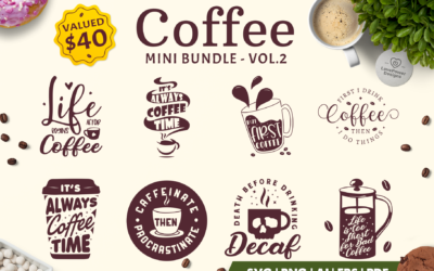 Coffee SVG Bundle | Coffee Bundle | Coffee Quotes Bundle V2