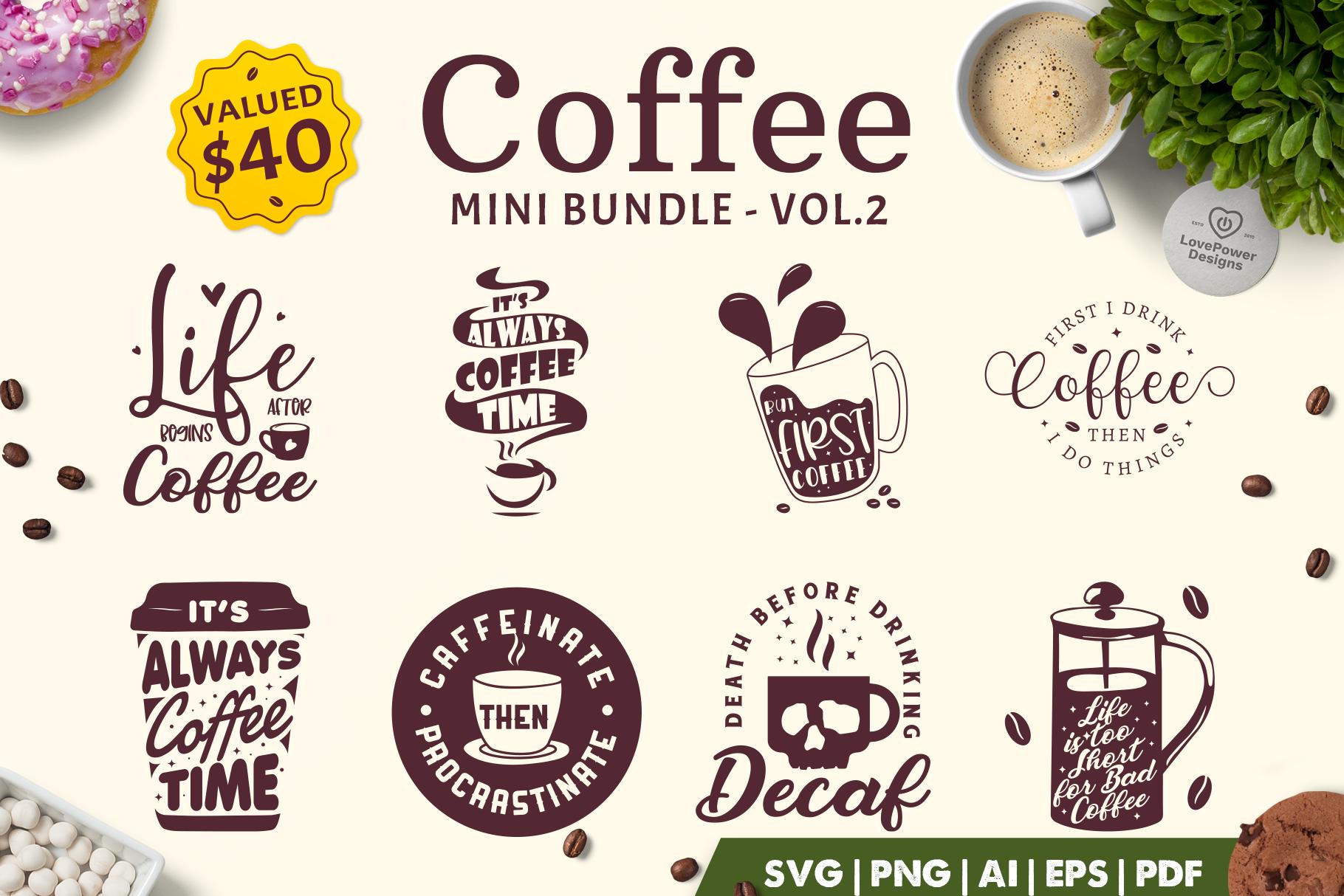 Coffee SVG Bundle | Coffee Bundle | Coffee Quotes Bundle V2