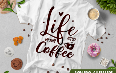 Coffee SVG | Life Begins After Coffee SVG | Coffee Quotes