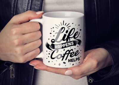 Coffee SVG | Life Happens Coffee Helps SVG | Coffee Quotes