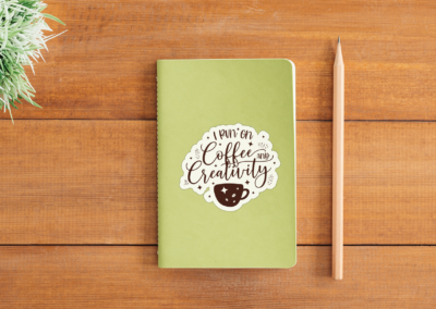 Sticker Bundle | 12 Coffee Stickers with White Border Vol2