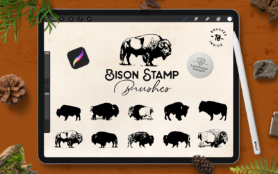 Procreate Brushes | Bison Stamp Brushes for Procreate