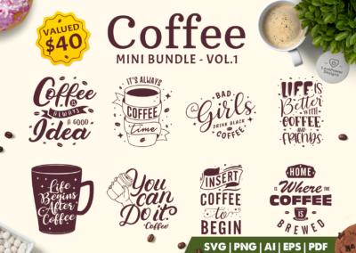 Coffee SVG Bundle | Coffee Mega Bundle | Coffee Quotes SVG