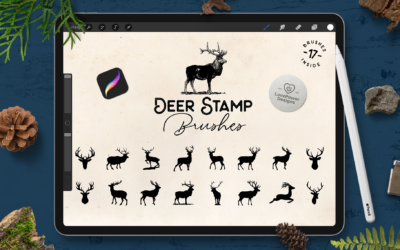 Procreate Brushes | Deer Stamp Brushes for Procreate