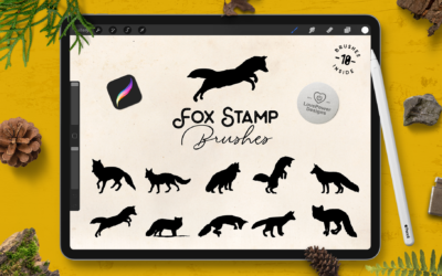 Procreate Brushes | Fox Stamp Brushes for Procreate